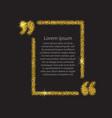 Gold quotation mark speech bubble
