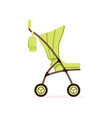 green bacarriage safe handle transportation of vector image