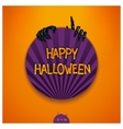 Halloween label with scary story vector image vector image