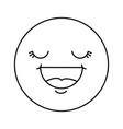 happy face emoji icon vector image vector image