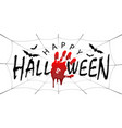Happy halloween card black scary design isolated