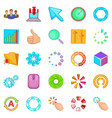insignia icons set cartoon style vector image vector image