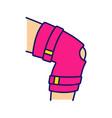 knee brace color icon vector image vector image