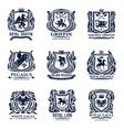 lion eagle griffin and pegasus heraldic icons vector image