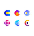 logo or icon of letter c for cryptocurrency vector image vector image