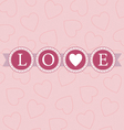 love word circles pastel vector image