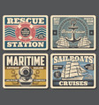 marine antique salon sailboat ocean cruises vector image vector image