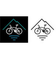 mountain bike logo vector image