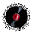 musical notes record vector image vector image