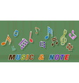 note and music vector image vector image