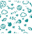 pattern of welcome back to school with hand drawn vector image