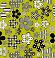 Patterned flowers background vector image vector image