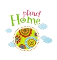 Planet home vector image