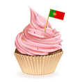 Portugese Cupcake vector image vector image