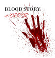 real blood story splash ink spot in shape human vector image vector image