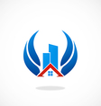 realty building abstract logo vector image vector image
