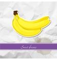 Ripe banana vector image vector image