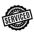 serviced rubber stamp vector image