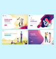 set of web page design templates for health care vector image vector image