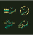 set ping pong club logos labels and badges vector image