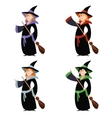set witch women vector image