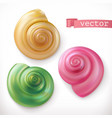 shells snails 3d icon set vector image vector image