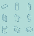 silkskreen color outline isometric icons vector image