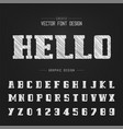 sketch bold font and alphabet chalk script and vector image vector image
