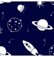 space pattern with rocket vector image