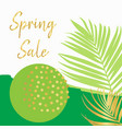 spring sale poster template gold vector image vector image