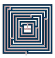 square labyrinth vector image vector image