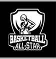 Star player doing shot in basketball championship