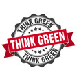 think green stamp sign seal vector image