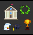 university building flat school education vector image