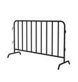 urban portable steel barrier black silhouette vector image vector image