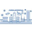 Usa florida jacksonville winter city skyline