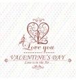 Valentines Day type text calligraphic headline vector image