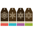 vintage christmas labels with sale offer vector image vector image