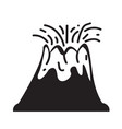 volcano icon design vector image