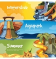 Water slides in an aquapark vector image vector image