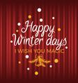 winter holiday postcard xmas poster wish vector image vector image