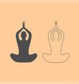yoga pose of woman dark grey set icon vector image vector image