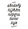 Hand drawn cursive font alphabet vector image