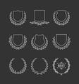 Set of badges and laurel wreaths vector image