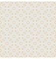 Flower sakura seamless pattern on peach color vector image