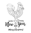 Rooster symbol of 2017 on the Chinese calendar vector image