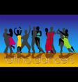 latino dancers vector image