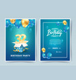 32 nd years birthday invitation double card vector image