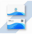 abstract blue stylish business card vector image vector image