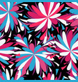 abstract psychedelic beautiful flower seamless vector image